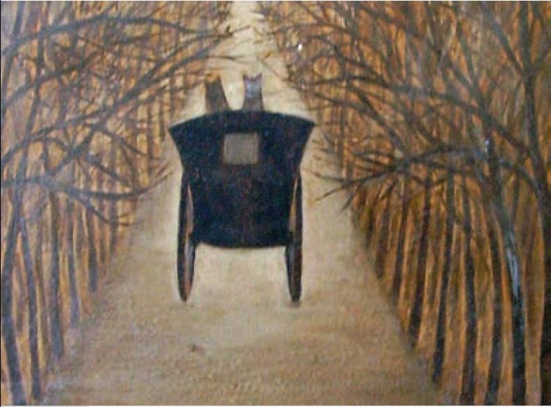 'Camino', Lía Mainero (óleo pastel sobre cartón).