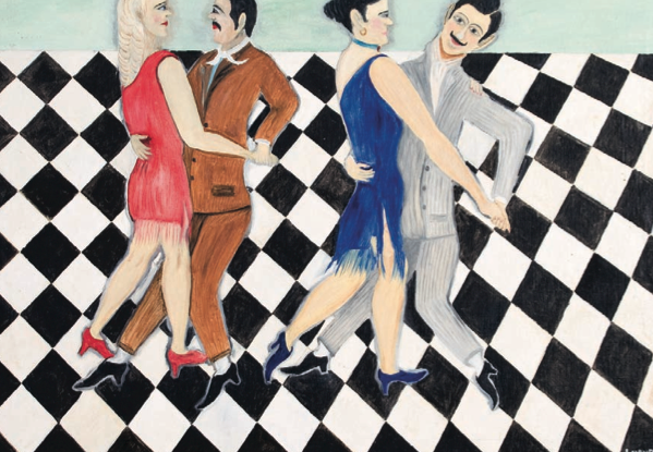 'Tango', Alfredo Lucho Maurente (óleo sobre tela). Cortesía de Enrique Gómez.