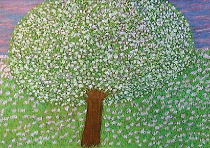 Sin título, Annie Namer (óleo pastel sobre tela).