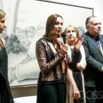 Foto en el acto inaugural, habla la curadora argentina Teresa Anchoren