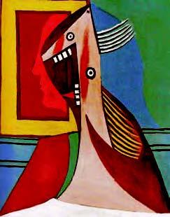 'Busto de mujer con autorretrato', 1929.