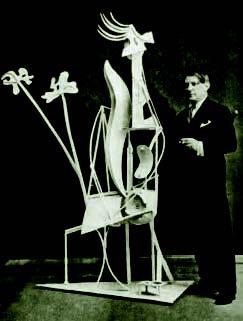 Picasso con 'Mujer en el jardín', 1931.