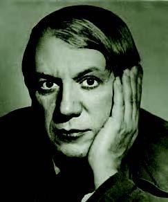Picasso en 1933. Foto de Man Ray.