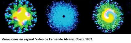 Variaciones es espiral. Video de Fernando Álvarez Cozzi, 1983.