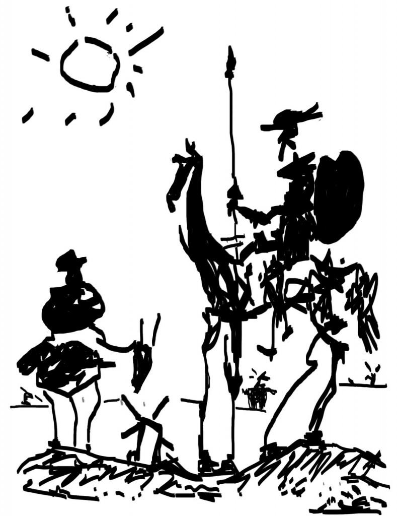 Don Quijote y Sancho Panza por Pablo Picasso