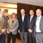 Embajador de Brasil en Uruguay Hadil da Rocha Vianna, Ministra de Turismo Liliám Kechichán, Antonio Carámbula, Diego Arrosa y Diego Facal