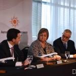 Gerente General de Puerta del Sur Diego Arrosa, Ministra de Turismo Liliam Kechichán y Subsecretario del Ministerio de Turismo Benjamín Liberoff