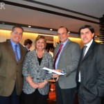 Embajador de Brasil en Uruguay Hadil da Rocha Vianna, Ministra de Turismo Liliám Kechichán, Director de Azul Carlos Pellegrino y Contador Fernando Cattivelli