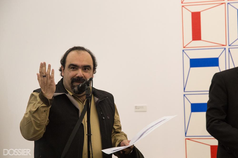 El artista ganador del 1er Premio Adquisición MEC Fernando Barrios