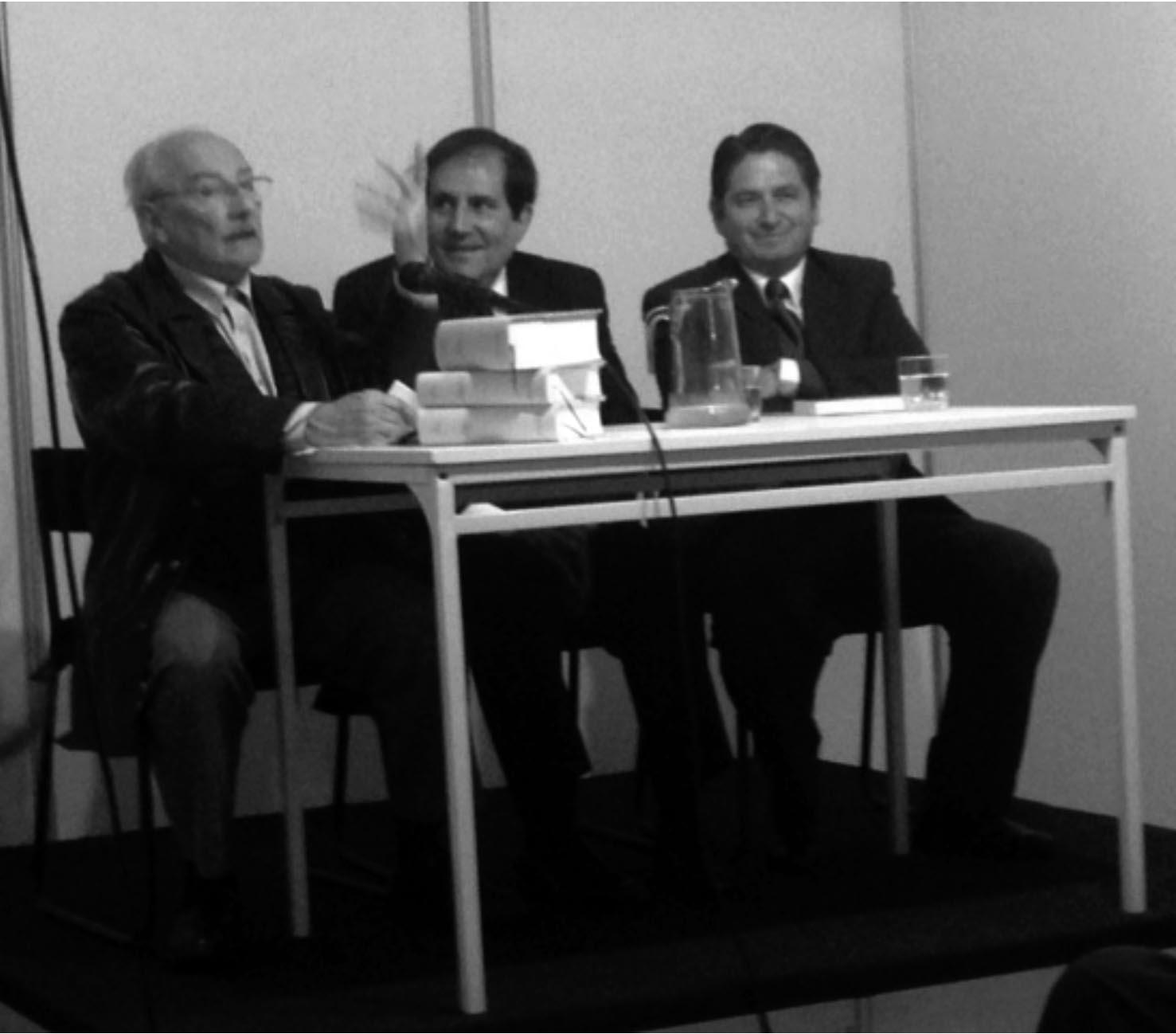 De izquierda a derecha: Ricardo Pallares, Alonso Ruíz Rosas y Ricardo Gonzáles-Vigil.