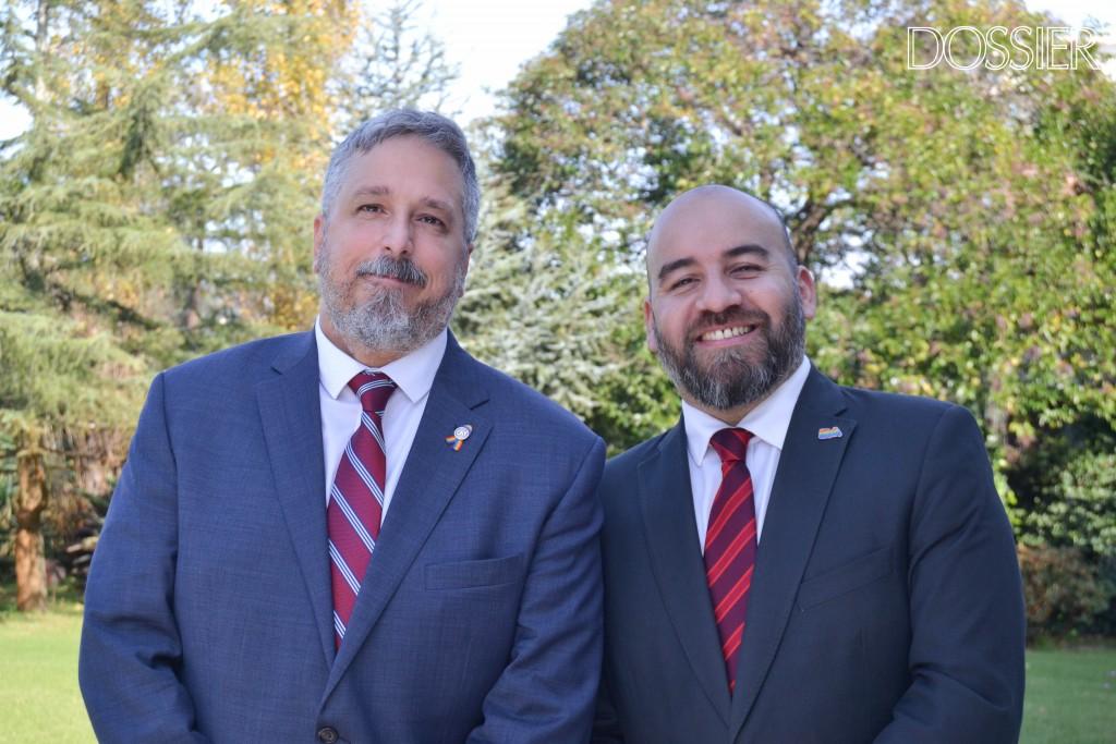 Pablo de Luca y Gustavo Noguera, presidente y vicepresidente de la Cámara de Comercio Gay Lésbica Argentina