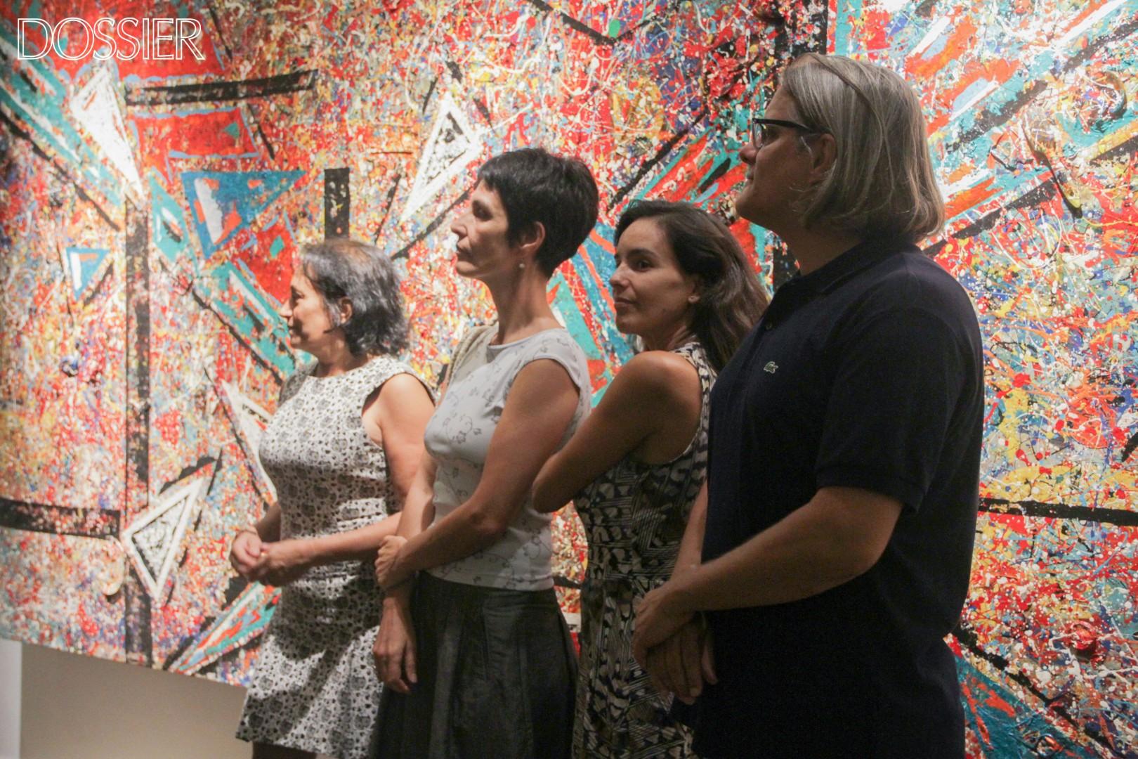 De izq. a der. : Renée Ferraro (Producción ejecutiva y Edición), Laura Alemán (Textos), Cristina Alcorta (Gestión Comercial) y Daniel Villar Ballestero.