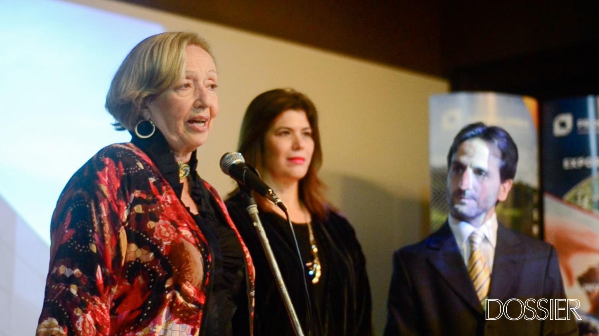 María Julia Muñoz, Embajadora de Colombia en Uruguay Natalia Abello y Director del Mapi Facundo Almeida