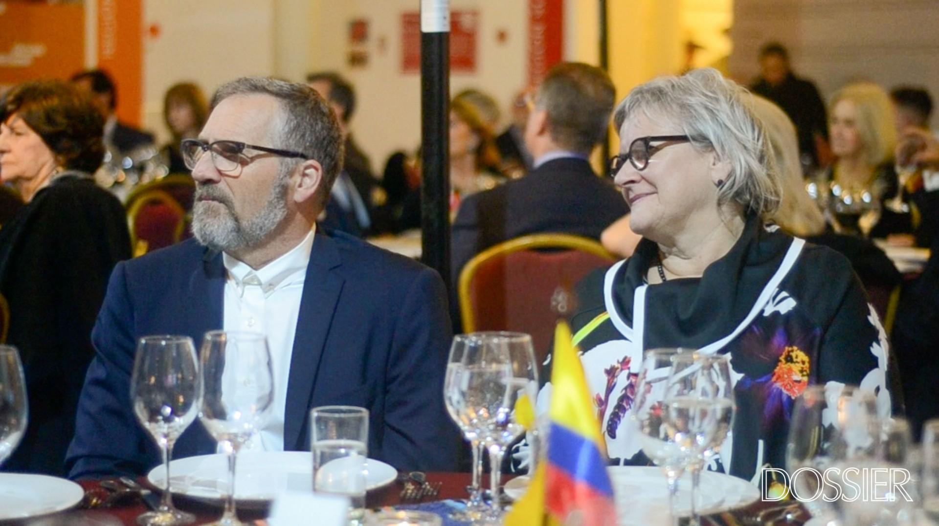 Albert Potvin y la Embajadora de Canadá en Uruguay Joanne Frappier