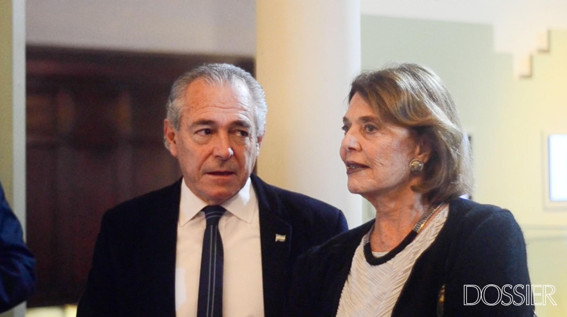 Embajador de Argentina en Uruguay Mario Barletta y Vera Heller