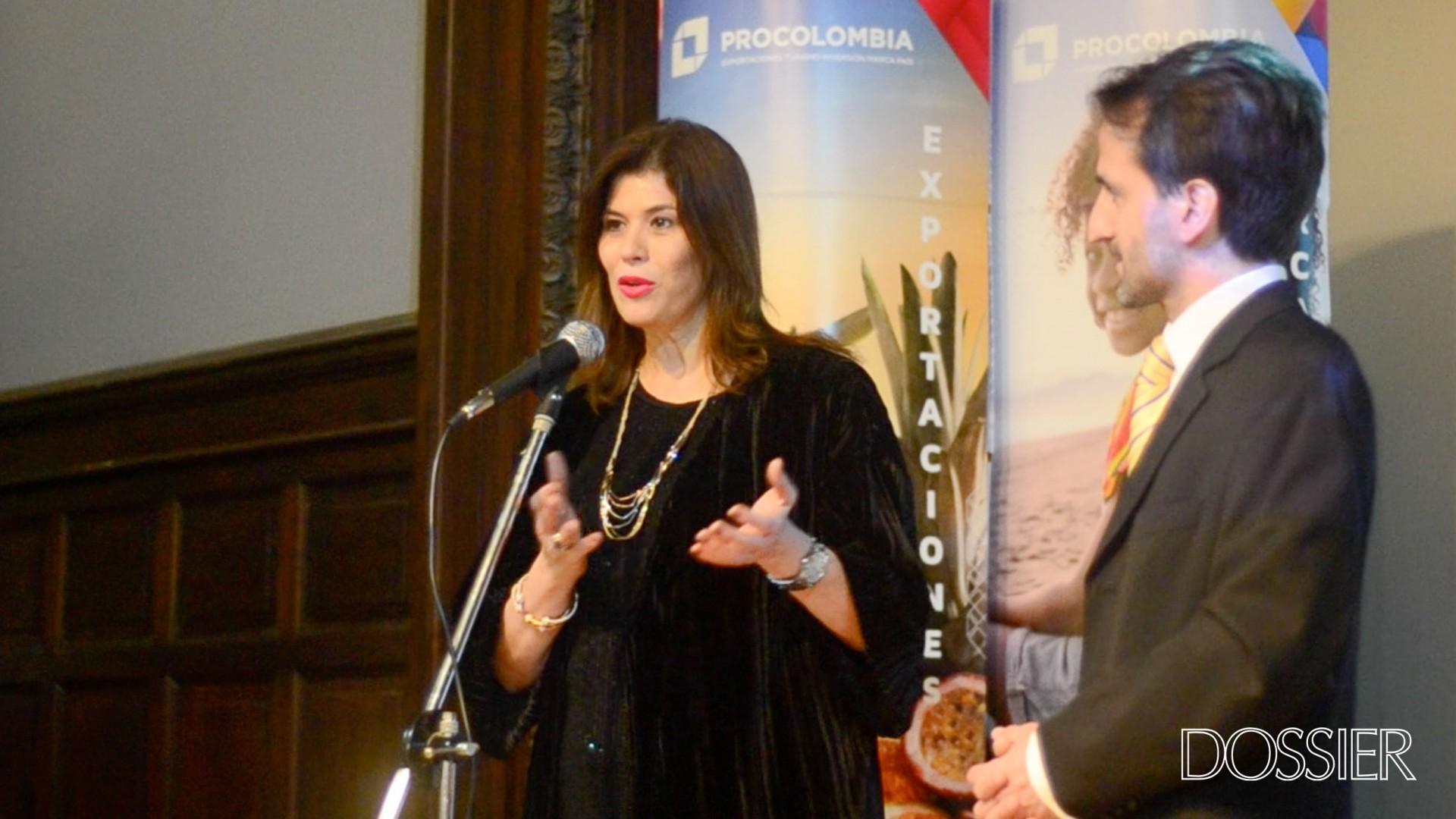 Embajadora de Colombia en Uruguay Natalia Abello y Director del Mapi Facundo Almeida