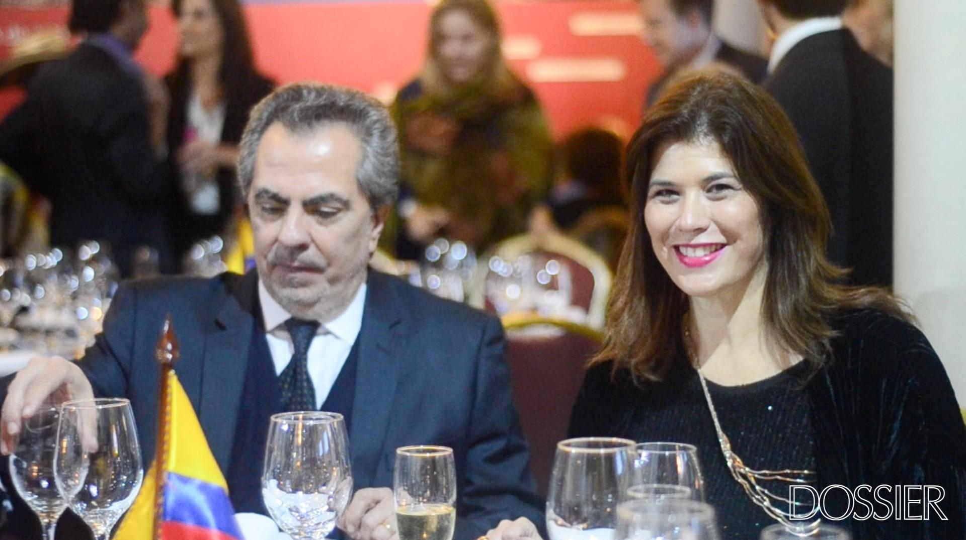 Embajador de Ecuador en Uruguay Galo Galarza Dávila y la Embajadora de Colombia en Uruguay Natalia Abello