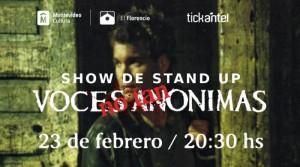 Stand up: Voces NO TAN Anónimas @ Centro Cultural Florencio Sanchez