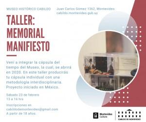 Taller Memorial Manifiesto @ Museo Histórico Cabildo de Montevideo