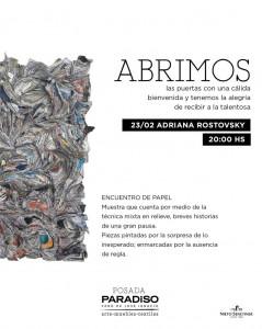 """ENCUENTRO DE PAPEL"" - Adriana Rostovsky @ Posada Paradiso"