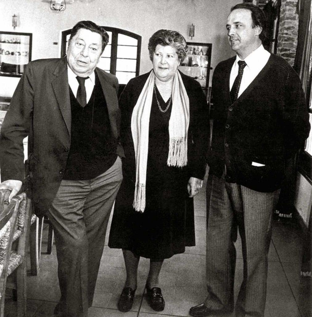 Con Atahualpa Yupanqui y Santiago Chalar.