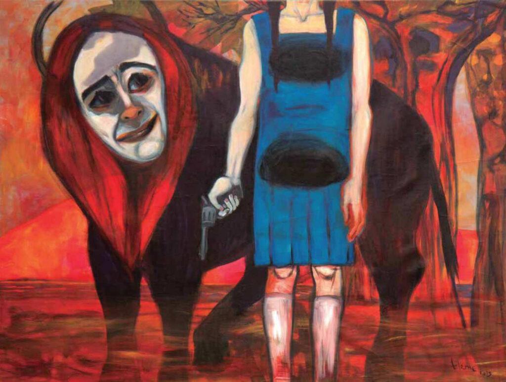 'El instrumento propicio', acrílico sobre tela, 2015