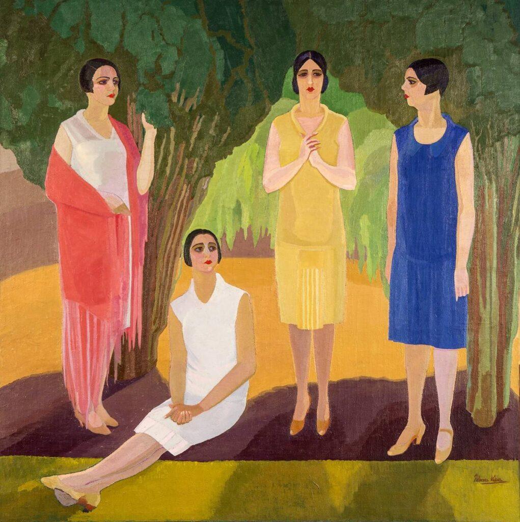 Composición, retratos en el jardín, 1927