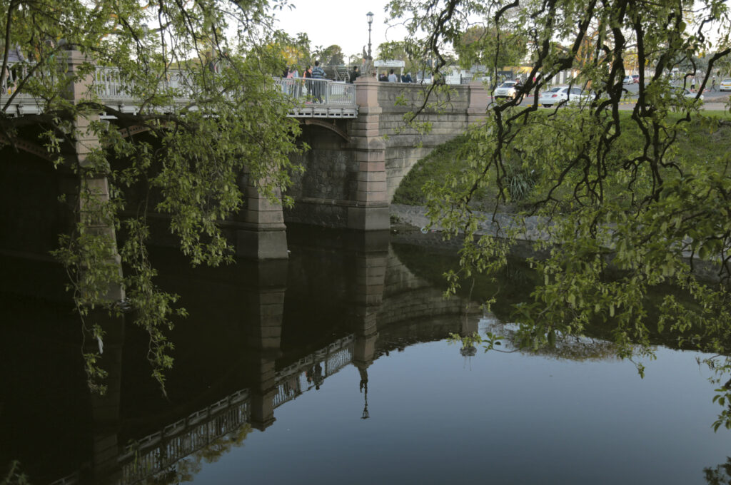 Puente de la Avenida Buschental sobre el arroyo Miguelete - Foto por Celeste Carnevale