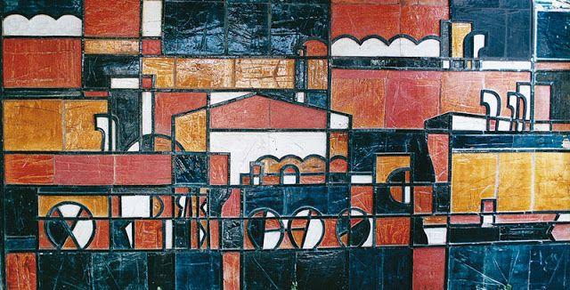 Mural de Dumas Oroño en el Edificio Santos Dumont, 1959.