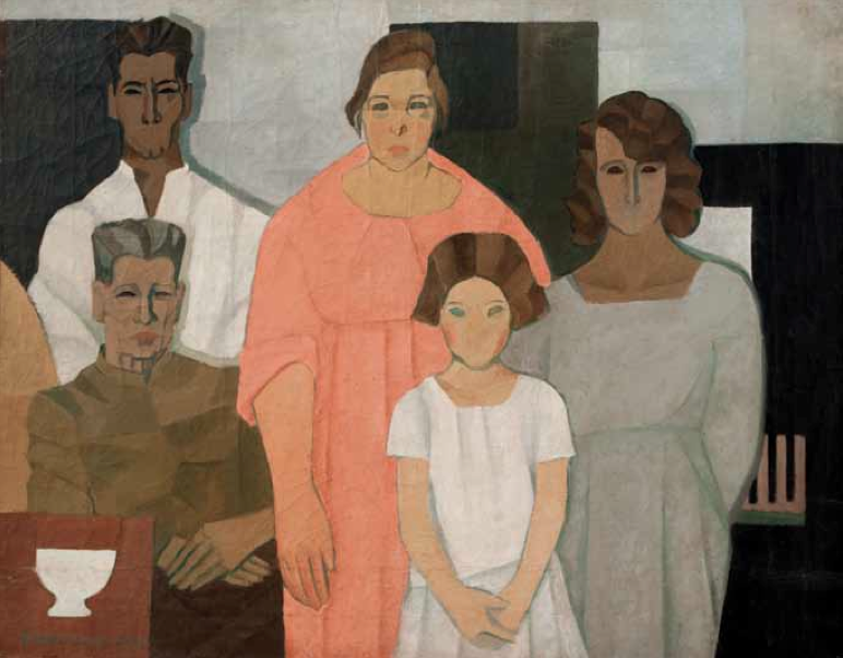 La familia, 1922. Óleo sobre tela, 108 x 140 cm.