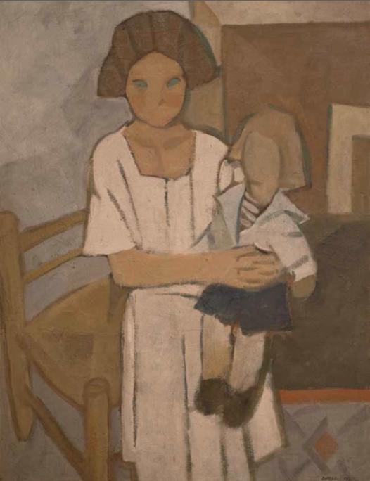 La niña de la muñeca, 1922. Óleo sobre tela, 98 x 75 cm.