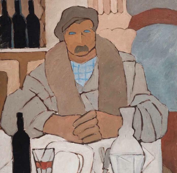 Los Magníficos_Hombre en la taberna, 1922. Óleo sobre tela, 106 x 84 cm.