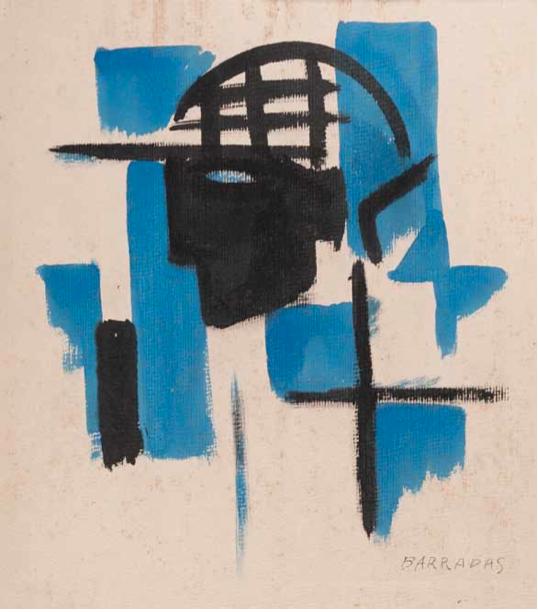 Vibracionismo_ Cabeza, c.1918‐23. Acuarela sobre cartón, 39 x 33 cm.