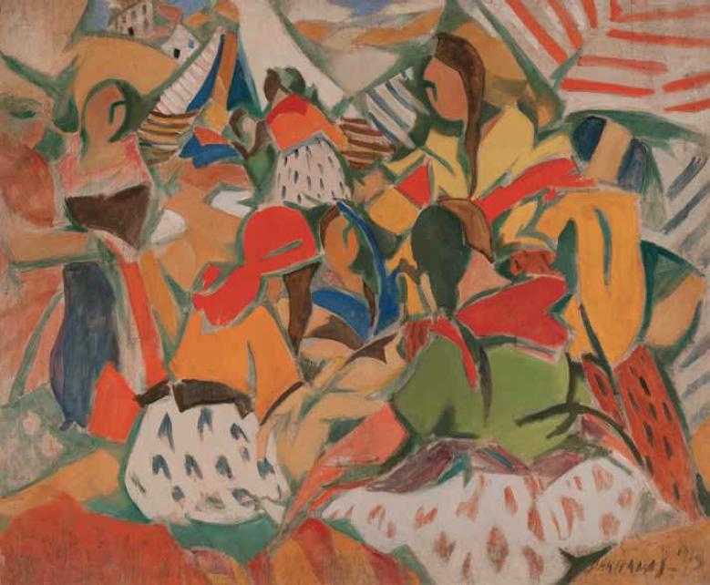 Vibracionismo_ Zíngaras, 1919. Óleo sobre tela, 100 x 118 cm.
